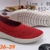 Fully รองเท้าผ้ายืด แบบสวม สีแดง