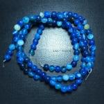 อาเกตสีฟ้า 6 มิล 60 เม็ด