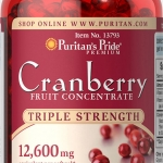 บรรเทาอาการในสตรี Triple Strength Cranberry Fruit Concentrate 12,600 mg / 200 sofgels