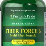 ไฟเบอร์ธรรมชาติ ดีทอคลำไส้ใหญ่ Puritan's Pride Fiber Force 6 / 200 capsules