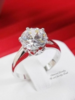 พร้อมส่ง แหวนเพชร Madawaska ((เพชรมาดากัสการ์)) เพชรโคลนนิ่งเหมือนเพชรแท้มากๆค่ะ ดีไซน์โมเดิร์นคลาสสิก ทรงแหวนหมั้น