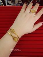 พร้อมส่ง กำไลไหมทอง+แหวนไหมทองงาช้าง งานชุบทอง 5 ไมครอนอย่างดีค่ะ ไหมทองเน้นความร่ำรวย เงินทอง ความอุดมสมบูรณ์ในทุกๆสิ่ง