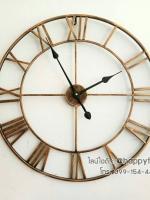 นาฬิกาติดผนังขนาดใหญ่ Vintage Design เลขโรมัน