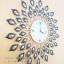 นาฬิกาแขวนติดผนัง Modern รุ่นหางนกยูงดำ thumbnail 3