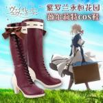 รองเท้าคอสเพลย์หญิงแฟชั่น Violet Evergarden แนวรองเท้าบูทยาว