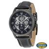 นาฬิกา FOSSIL ME3028 Men Watch Automatic Skeleton Leather Strap 45 mm