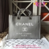 Chanel Deauville denim jean Shopping bag สีเทา งานHiend Original