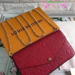 Louis vuitton Pochette Felicie crossbody bag สีแดง งานHiend Original