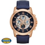 นาฬิกา FOSSIL ME3029 Men Watch Automatic Skeleton Leather Strap 44 mm
