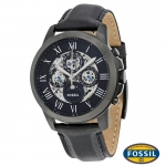 นาฬิกา FOSSIL ME3028 Men Watch Automatic Skeleton Leather Strap 45 mm