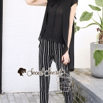 Stylish Stripe Pants Cami Spritty Set