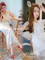 Cindy long luxury set blouse+ dress