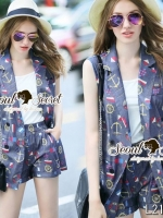 Seoul Secret Say's... Nifty Anchor Print Outer set