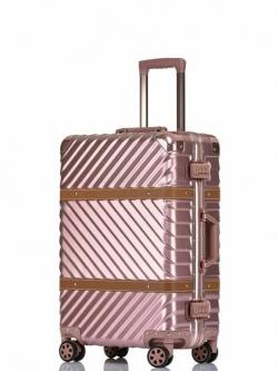 กระเป๋าเดินทางล้อลาก 28 นิ้ว ขอบมิเนียม