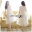 🎀 Lady Ribbon's Made 🎀Lady Ariana Ruffle & Layered White Mixed Fabric Dress thumbnail 3