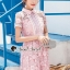 Seoul Secret Say's... Pink Daisy Lace Dress thumbnail 1