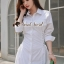 Seoul Secret Say's... Roppy Side Waist Ivory Shirt Dress thumbnail 5