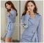 🎀 Lady Ribbon's Made 🎀 Lady Jennifer Sexy Chic Striped Shirt Dress thumbnail 5