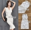 🎀 Lady Ribbon's Made 🎀 Lady Sara Smart Chic Clean White Suit Dress thumbnail 6