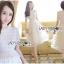 🎀 Lady Ribbon's Made 🎀Lady Ariana Ruffle & Layered White Mixed Fabric Dress thumbnail 2