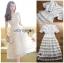 🎀 Lady Ribbon's Made 🎀Lady Ariana Ruffle & Layered White Mixed Fabric Dress thumbnail 8