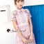 Seoul Secret Say's... Pink Daisy Lace Dress thumbnail 3