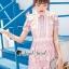Seoul Secret Say's... Pink Daisy Lace Dress thumbnail 2