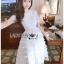 🎀 Lady Ribbon's Made 🎀Lady Ariana Ruffle & Layered White Mixed Fabric Dress thumbnail 1