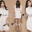 Seoul Secret Say's... Roppy Side Waist Ivory Shirt Dress thumbnail 2