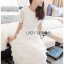 🎀 Lady Ribbon's Made 🎀Lady Ariana Ruffle & Layered White Mixed Fabric Dress thumbnail 7