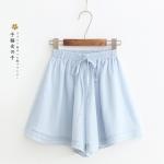 กางเกงชีฟองขาสั้นเอวยืด (มีให้เลือก 4 สี)