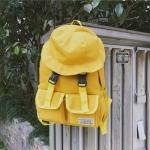 กระเป๋าเป้ แต่งที่ปิดกระเป๋ารูปทรงหมวก (มีให้เลือก 4 สี)