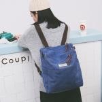 กระเป๋าเป้ผ้า Canvas ปรับเป็นกระเป๋าสะพายข้างได้ (มีให้เลือก 4 สี)