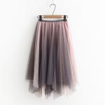 กระโปรงผ้ามุ้งเอวยืด (มีให้เลือก 2 สี)