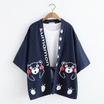 เสื้อคลุมญี่ปุ่นพิมพ์ลาย KUMAMON *ไม่รวมเสื้อยืดด้านใน*