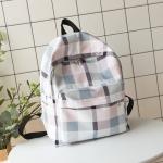 กระเป๋าเป้ผ้า Oxford ลายสก๊อต/ลายผ้าขาวม้า (มีให้เลือก 4 สี)
