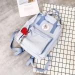 กระเป๋าเป้ผ้า Canvas แต่งลาย (มีให้เลือก 4 สี)