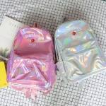 กระเป๋าเป้สะพายหลังหนังโฮโลแกรมปักลาย (มีให้เลือก 4 สี)