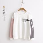 เสื้อยืดพิมพ์ลายแขนยาวแต่งซิป (มีให้เลือก 3 สี)