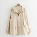 เสื้อคลุม/แจ็คเก็ตฮู้ดแขนยาว (มีให้เลือก 3 สี)