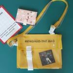 กระเป๋าสะพายข้างหนัง PU แต่งครอบ PVC ใส พิมพ์ลาย (มีให้เลือก 4 สี)