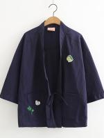 เสื้อคลุมญี่ปุ่นแต่งลาย (มีให้เลือก 2 สี)
