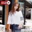 [PRE-KOREA] เสื้อยืดแต่งคอเสื้อพิมพ์ลายแถบแขนสั้น (มีให้เลือก 2 สี) thumbnail 1