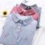 เสื้อเชิ้ตลายสก๊อตคอปก ปักแต่งลาย (มีให้เลือก 3 สี 4 ไซส์) thumbnail 1