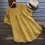 เสื้อเบลาส์ปักลาย แขนสั้น (มีให้เลือก 3 สี) thumbnail 4