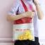 กระเป๋าถุงผ้า Canvas แต่งตุ๊กตา/ตัวการ์ตูน เย็บครอบ PVC ใส (มีให้เลือก 4 สี) thumbnail 5