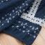 เสื้อเบลาส์ปักลายแต่งลูกไม้ แขนสั้น (มีให้เลือก 2 สี) thumbnail 6