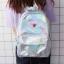 กระเป๋าเป้สะพายหลังหนังโฮโลแกรมปักลาย (มีให้เลือก 4 สี) thumbnail 2