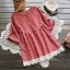 เสื้อเบลาส์ลายสก๊อต แต่งชายลูกไม้ (มีให้เลือก 3 สี) thumbnail 1
