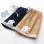 กางเกงขาสั้นเอวยืดปักแต่งลาย (มีให้เลือก 2 สี) thumbnail 4
